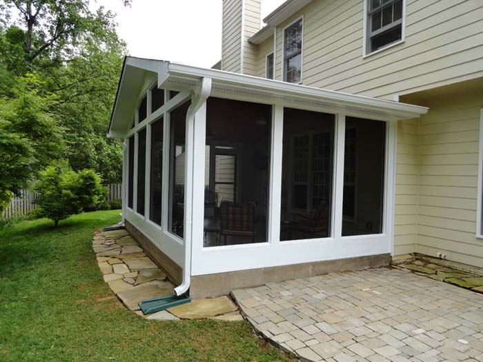 Stamped Concrete Screened Porches : Screen porches mount construction